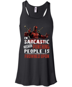 image 1019 247x296px Deadpool Shirt: I'm Sarcastic Because Punching People Is Frowned Upon