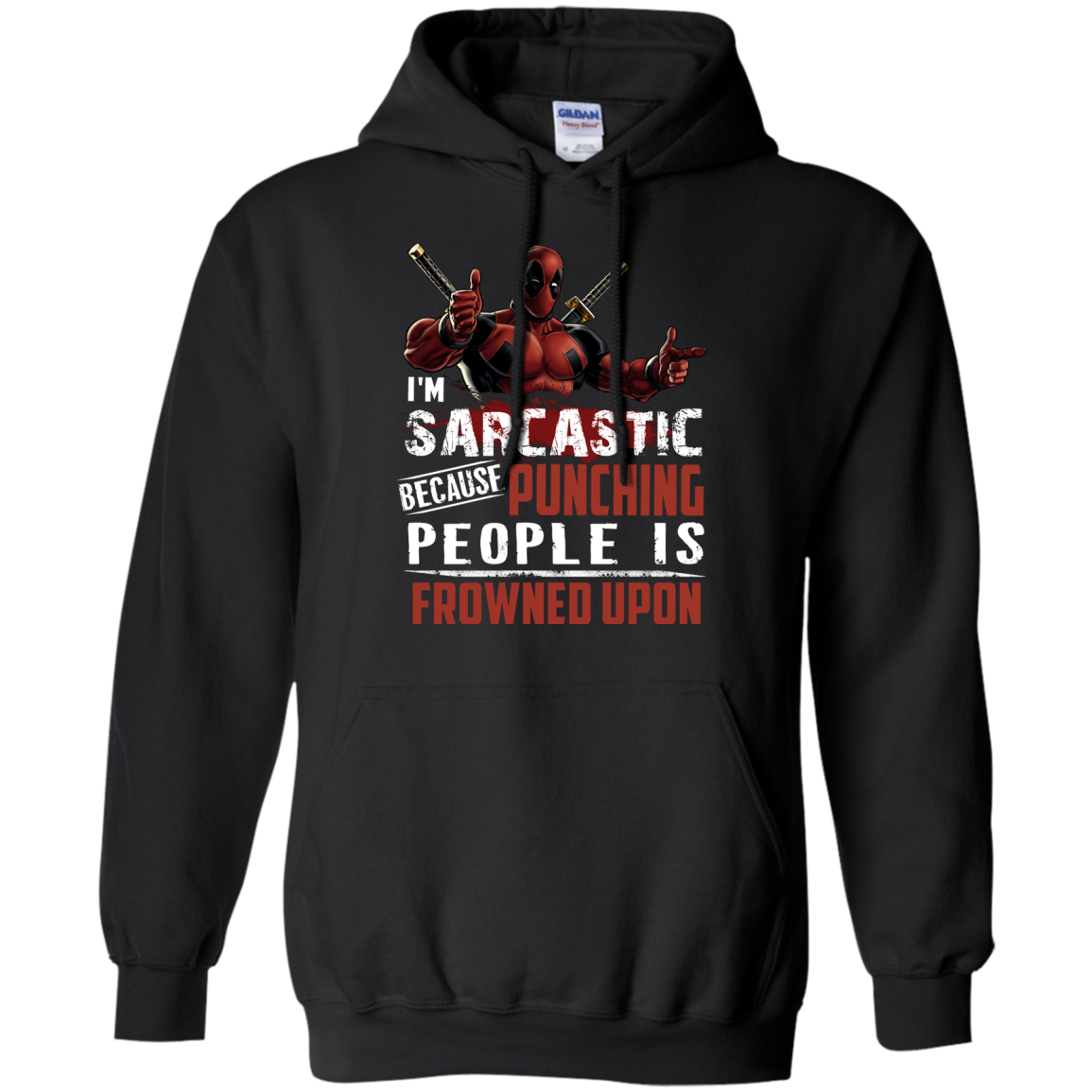 image 1021px Deadpool Shirt: I'm Sarcastic Because Punching People Is Frowned Upon