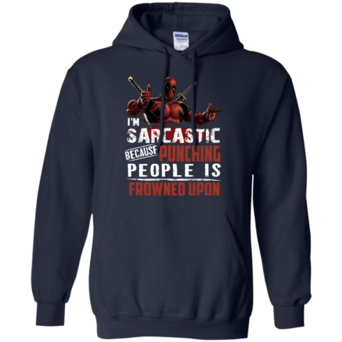 image 1022 490x490px Deadpool Shirt: I'm Sarcastic Because Punching People Is Frowned Upon