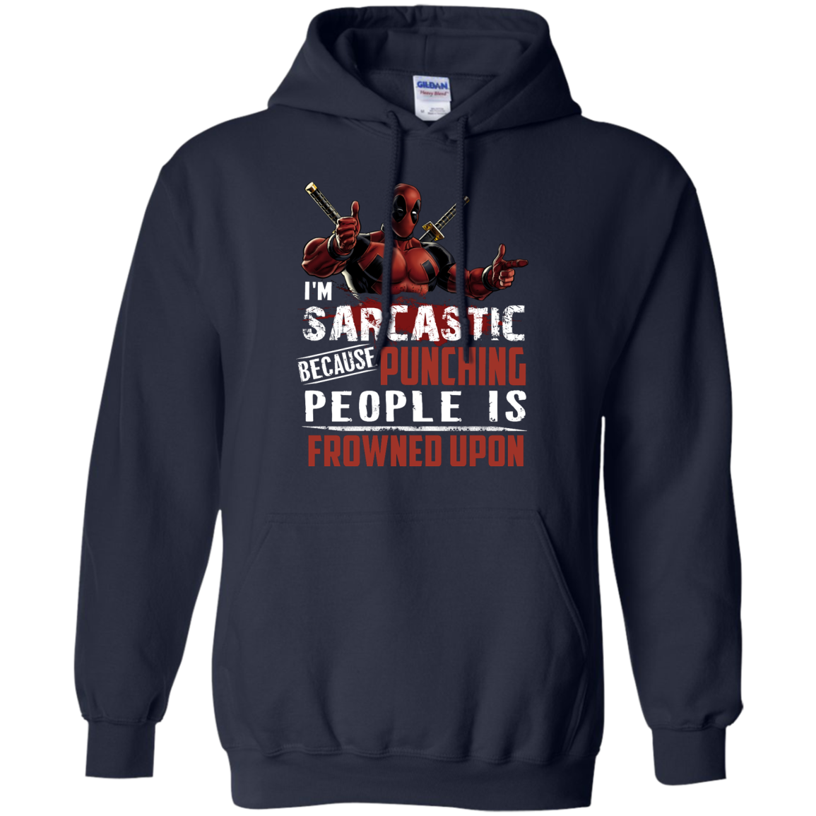 image 1022px Deadpool Shirt: I'm Sarcastic Because Punching People Is Frowned Upon