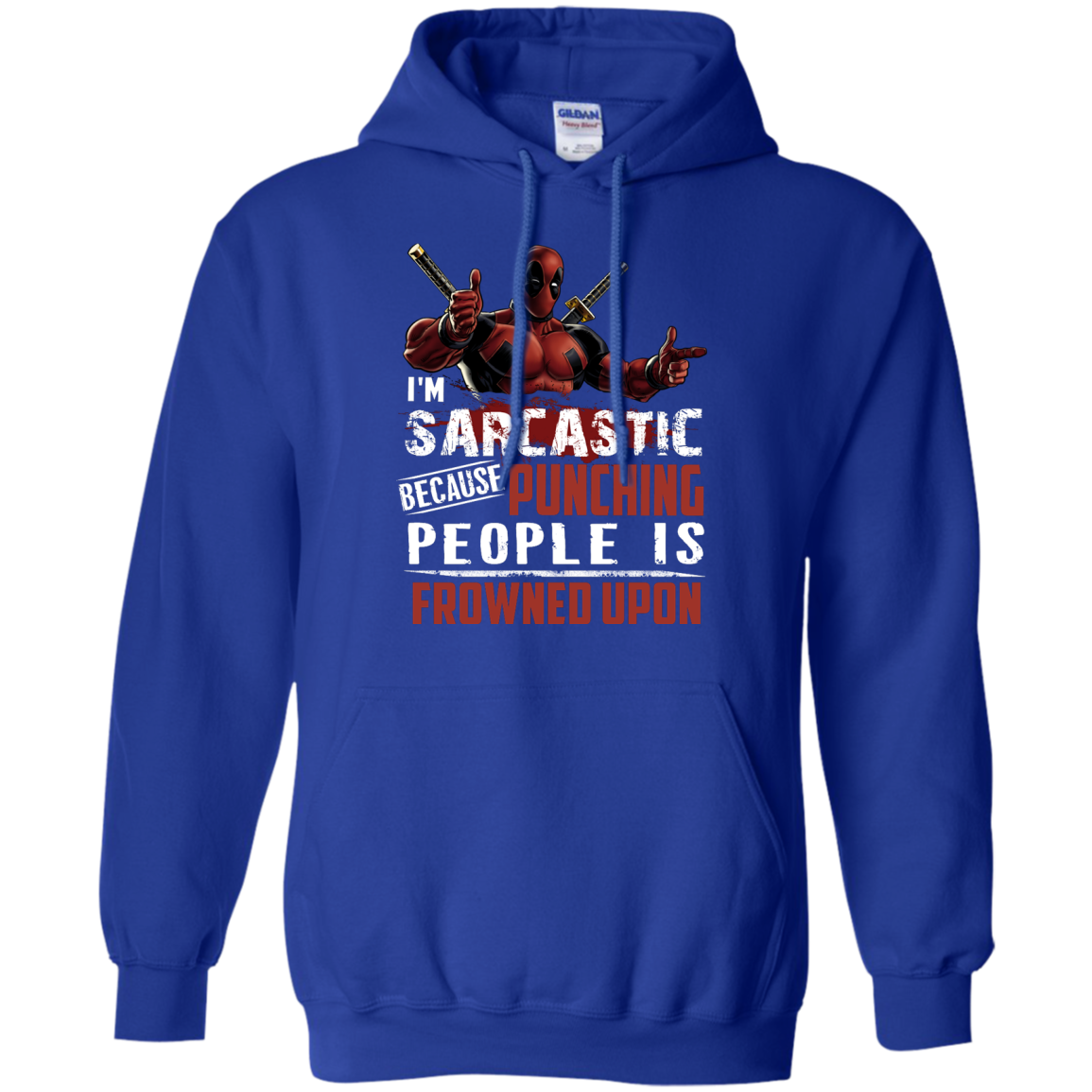 image 1023px Deadpool Shirt: I'm Sarcastic Because Punching People Is Frowned Upon