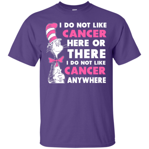image 1029 490x490px I Do Not Like Cancer Here Or There Or Anywhere T Shirt