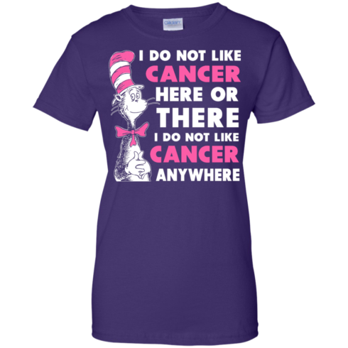 image 1037 490x490px I Do Not Like Cancer Here Or There Or Anywhere T Shirt