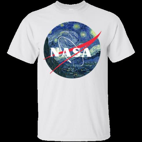 image 1041 490x490px Nasa Logo Starry Night by Van Gogh T Shirt, Hoodies, Tank