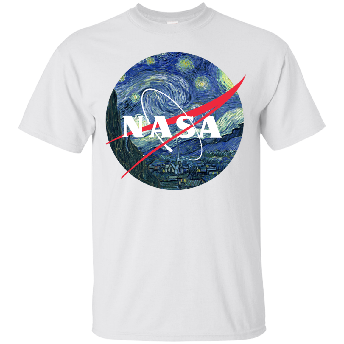 image 1041px Nasa Logo Starry Night by Van Gogh T Shirt, Hoodies, Tank