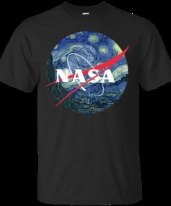 image 1042 247x296px Nasa Logo Starry Night by Van Gogh T Shirt, Hoodies, Tank