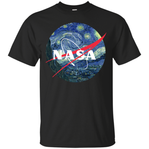 image 1042 490x490px Nasa Logo Starry Night by Van Gogh T Shirt, Hoodies, Tank