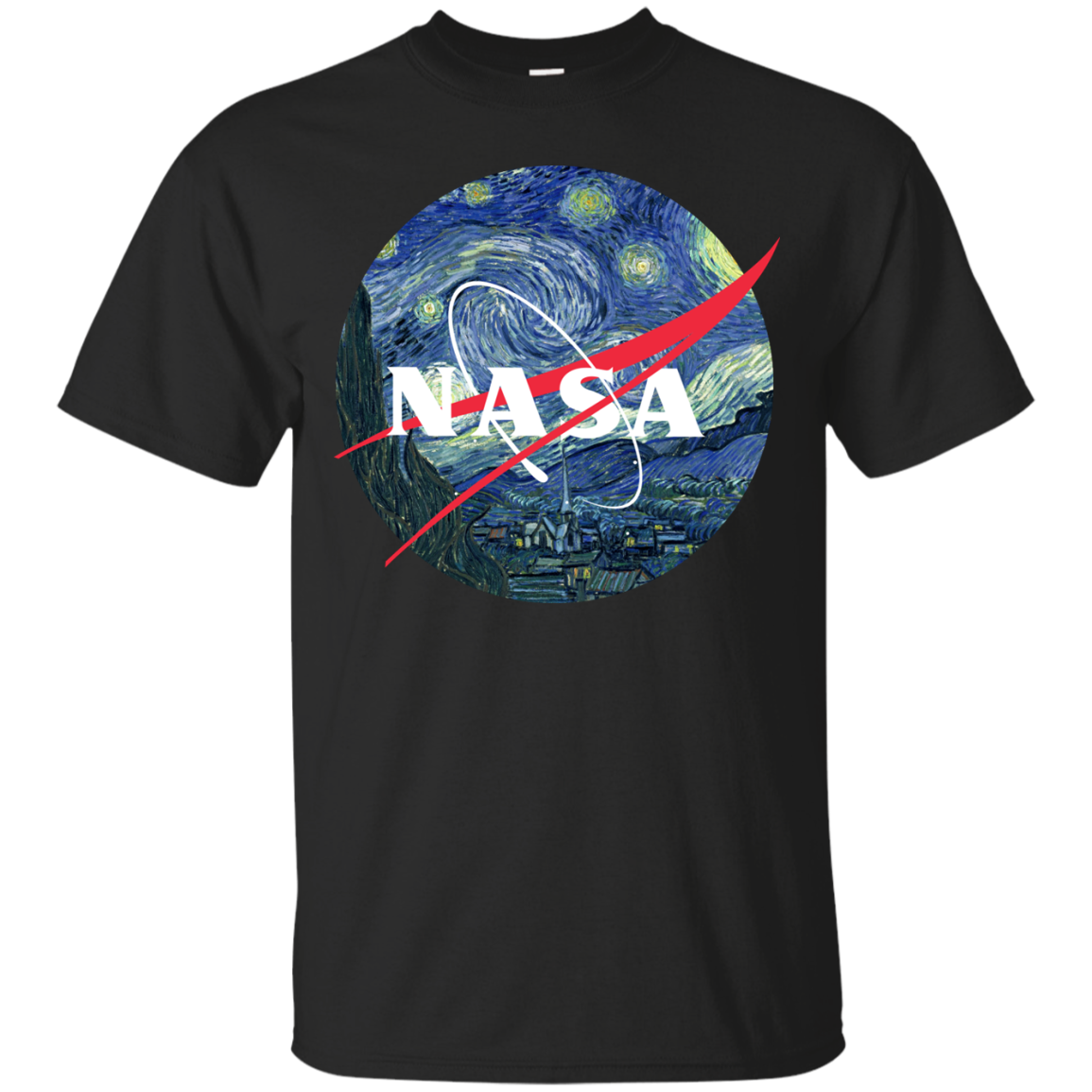 image 1042px Nasa Logo Starry Night by Van Gogh T Shirt, Hoodies, Tank