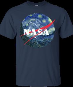 image 1043 247x296px Nasa Logo Starry Night by Van Gogh T Shirt, Hoodies, Tank
