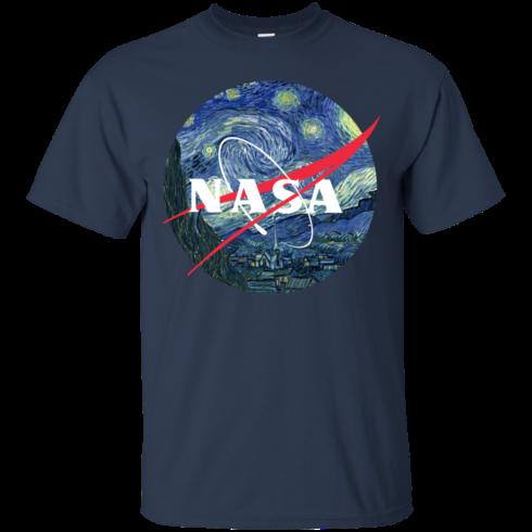 image 1043 490x490px Nasa Logo Starry Night by Van Gogh T Shirt, Hoodies, Tank