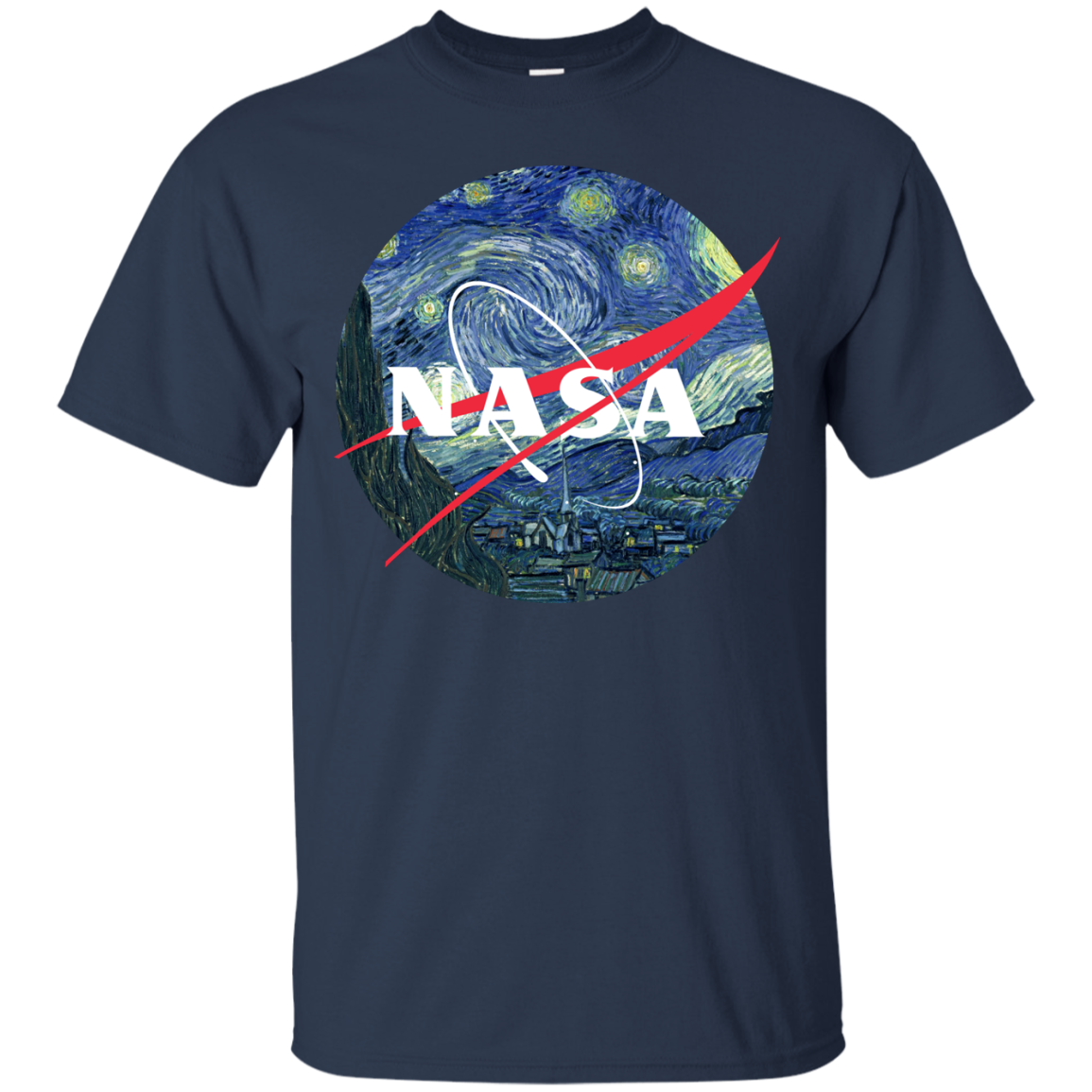 image 1043px Nasa Logo Starry Night by Van Gogh T Shirt, Hoodies, Tank
