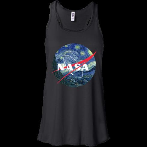 image 1045 490x490px Nasa Logo Starry Night by Van Gogh T Shirt, Hoodies, Tank