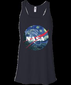 image 1046 247x296px Nasa Logo Starry Night by Van Gogh T Shirt, Hoodies, Tank