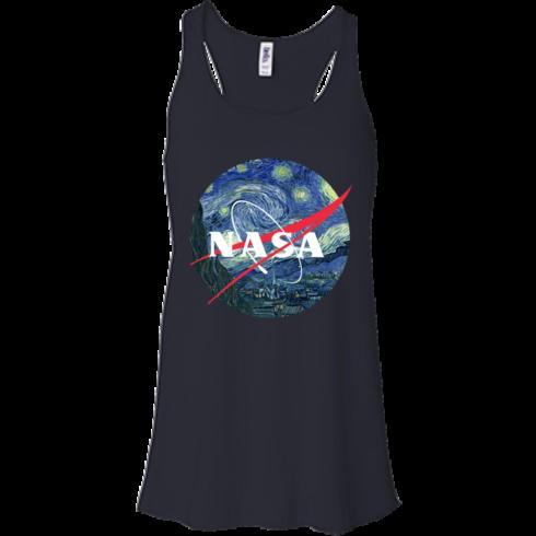 image 1046 490x490px Nasa Logo Starry Night by Van Gogh T Shirt, Hoodies, Tank