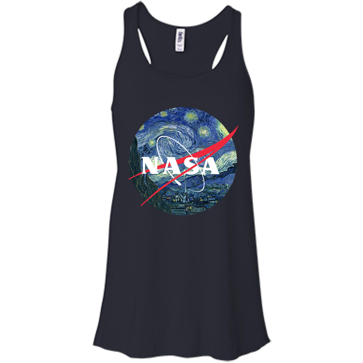 image 1046px Nasa Logo Starry Night by Van Gogh T Shirt, Hoodies, Tank