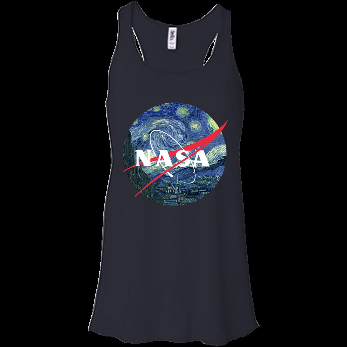image 1046px Nasa Logo Starry Night by Van Gogh T Shirt, Hoodies, Tank