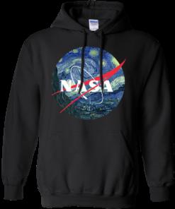 image 1048 247x296px Nasa Logo Starry Night by Van Gogh T Shirt, Hoodies, Tank