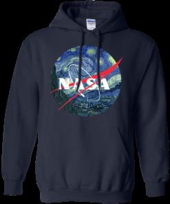 image 1049 247x296px Nasa Logo Starry Night by Van Gogh T Shirt, Hoodies, Tank