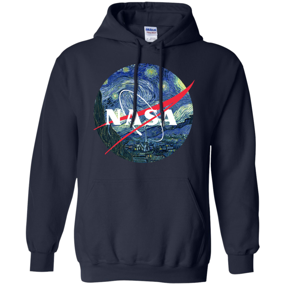 image 1049px Nasa Logo Starry Night by Van Gogh T Shirt, Hoodies, Tank