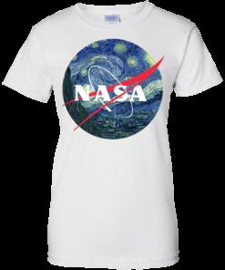 image 1050 247x296px Nasa Logo Starry Night by Van Gogh T Shirt, Hoodies, Tank