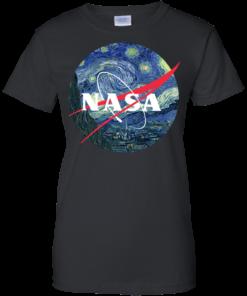 image 1051 247x296px Nasa Logo Starry Night by Van Gogh T Shirt, Hoodies, Tank