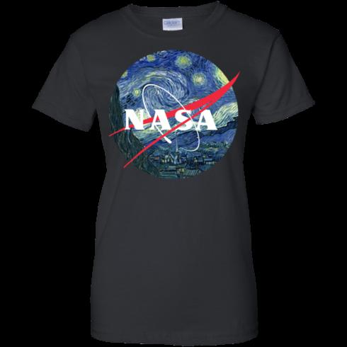 image 1051 490x490px Nasa Logo Starry Night by Van Gogh T Shirt, Hoodies, Tank