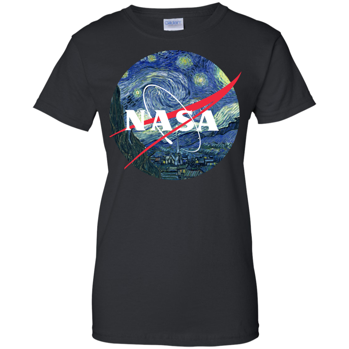 image 1051px Nasa Logo Starry Night by Van Gogh T Shirt, Hoodies, Tank
