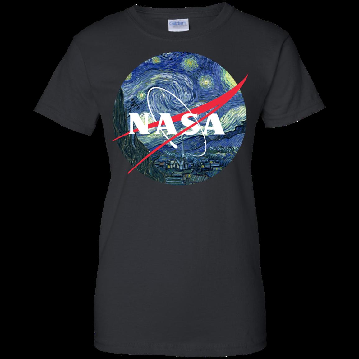 image 1051px Nasa Logo Starry Night by Van Gogh T Shirt, Hoodies, Tank