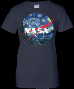 image 1052 247x296px Nasa Logo Starry Night by Van Gogh T Shirt, Hoodies, Tank