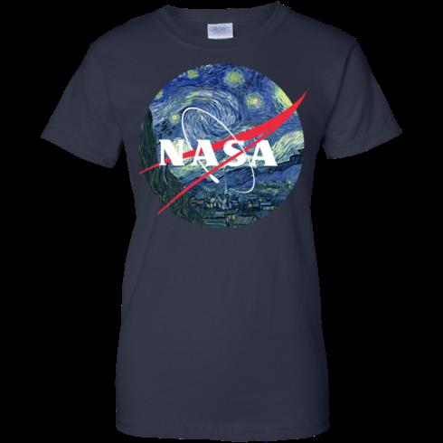 image 1052 490x490px Nasa Logo Starry Night by Van Gogh T Shirt, Hoodies, Tank