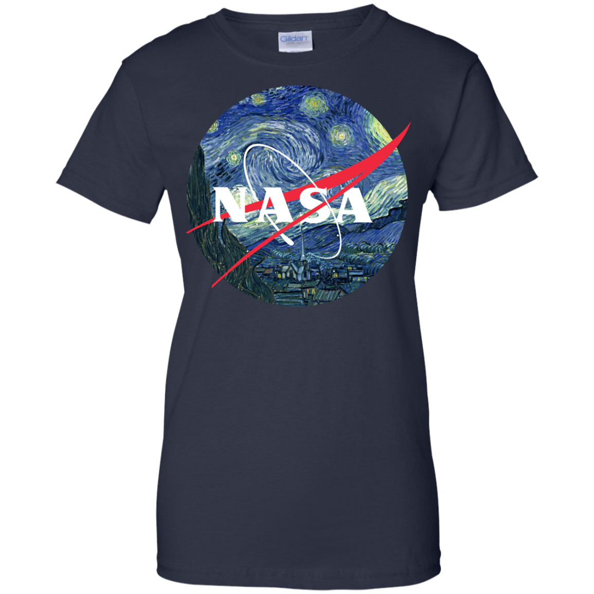 image 1052px Nasa Logo Starry Night by Van Gogh T Shirt, Hoodies, Tank
