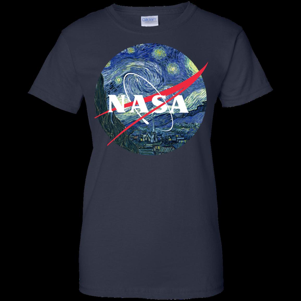 image 1052px Nasa Logo Starry Night by Van Gogh T Shirt, Hoodies, Tank