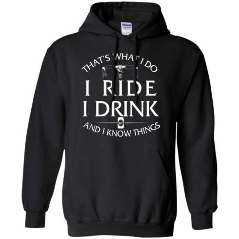 image 171 490x490px Cycling T Shirt: That's What I Do I Ride I Drink And I Know Things