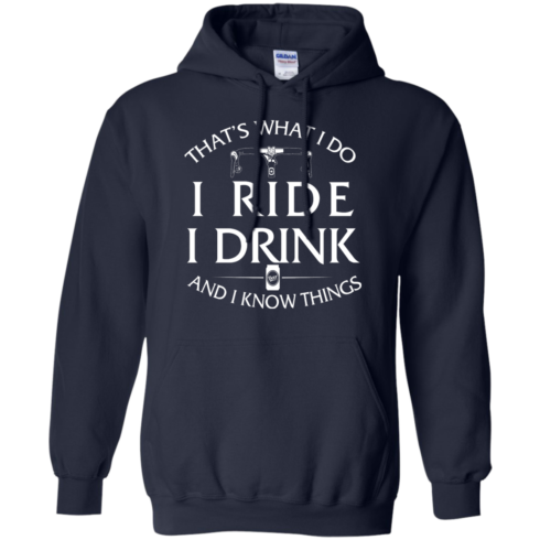 image 172 490x490px Cycling T Shirt: That's What I Do I Ride I Drink And I Know Things