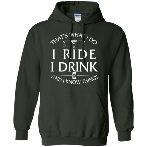 image 173 490x490px Cycling T Shirt: That's What I Do I Ride I Drink And I Know Things