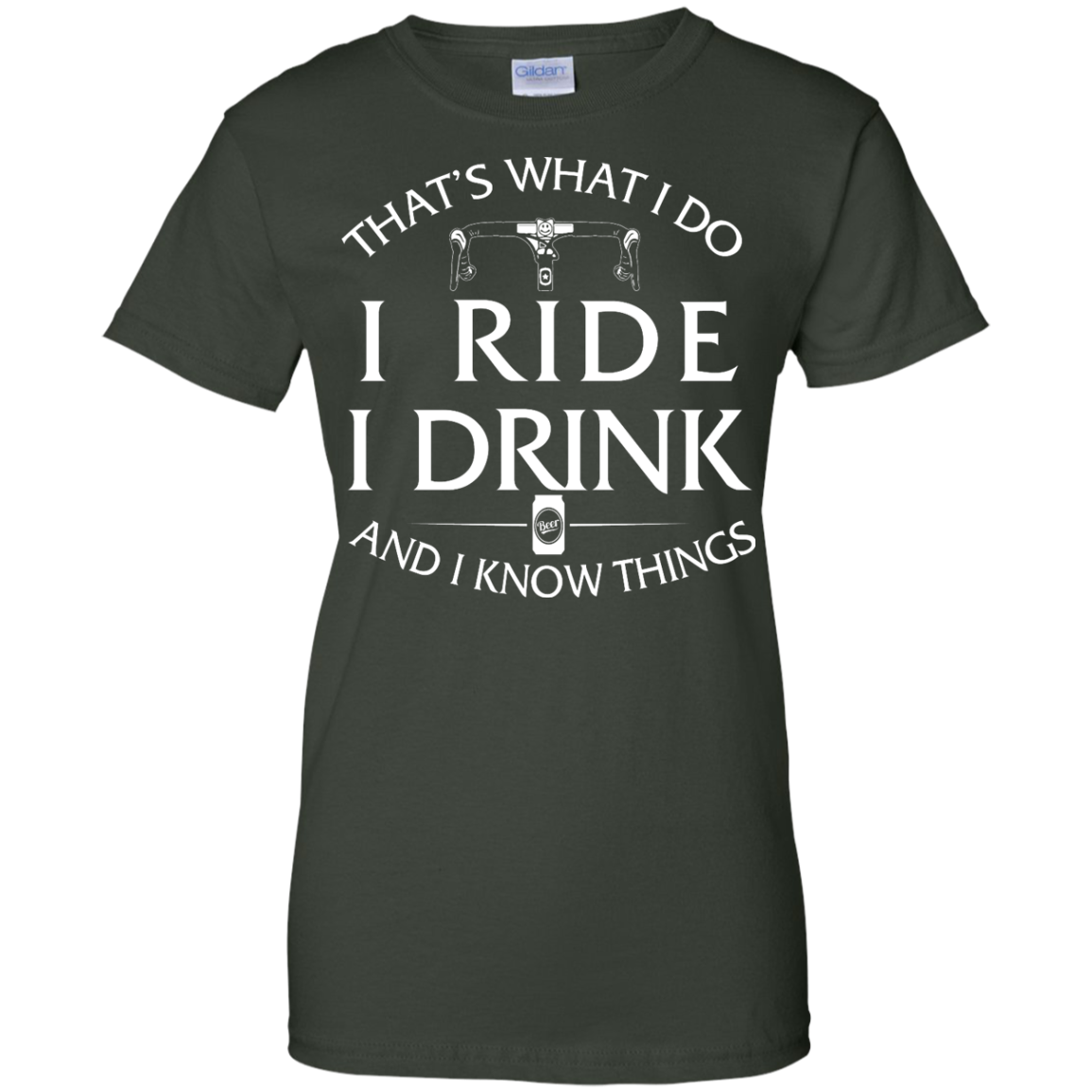 image 175px Cycling T Shirt: That's What I Do I Ride I Drink And I Know Things
