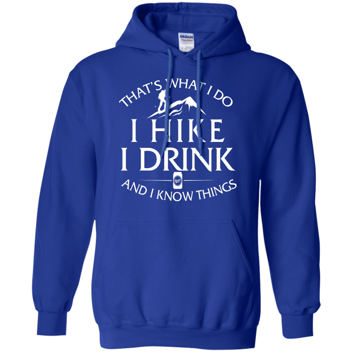 image 183px That's What I Do, I Hike, I Drink and I Know Things T Shirt