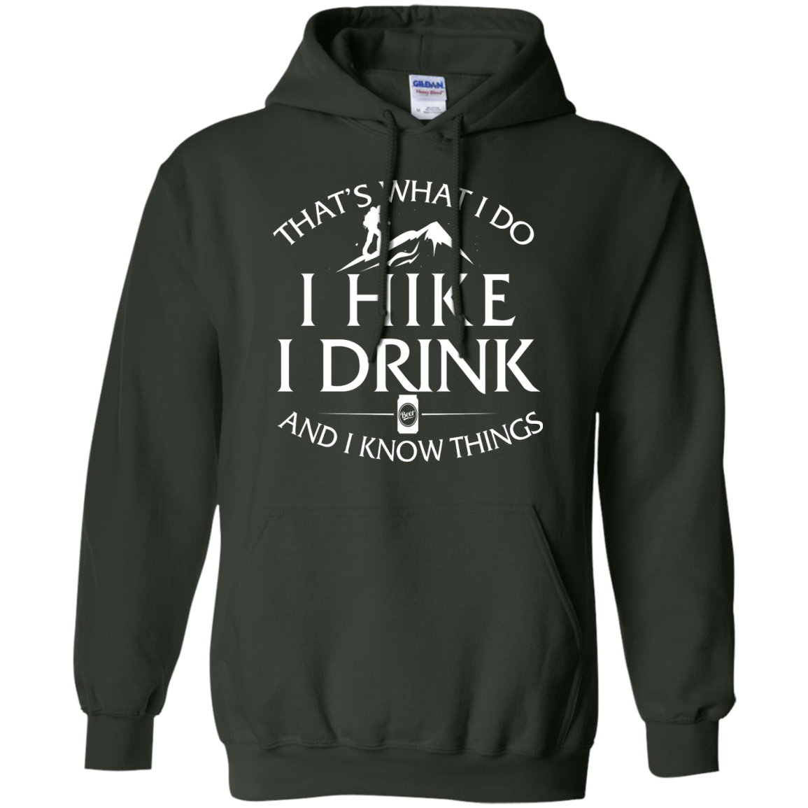 image 184px That's What I Do, I Hike, I Drink and I Know Things T Shirt