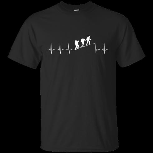 image 188 490x490px Love Hiking Heart Beat T Shirt, Hoodies, Tank