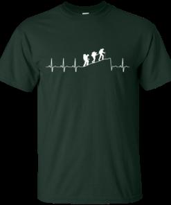 image 190 247x296px Love Hiking Heart Beat T Shirt, Hoodies, Tank