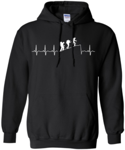 image 193 247x296px Love Hiking Heart Beat T Shirt, Hoodies, Tank