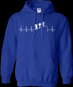 image 194 247x296px Love Hiking Heart Beat T Shirt, Hoodies, Tank
