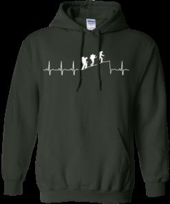 image 195 247x296px Love Hiking Heart Beat T Shirt, Hoodies, Tank