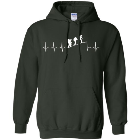 image 195 490x490px Love Hiking Heart Beat T Shirt, Hoodies, Tank