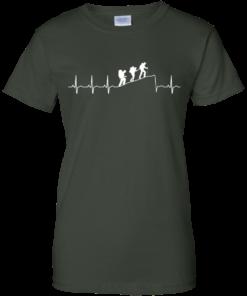 image 197 247x296px Love Hiking Heart Beat T Shirt, Hoodies, Tank