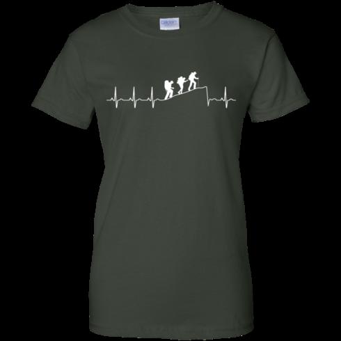 image 197 490x490px Love Hiking Heart Beat T Shirt, Hoodies, Tank