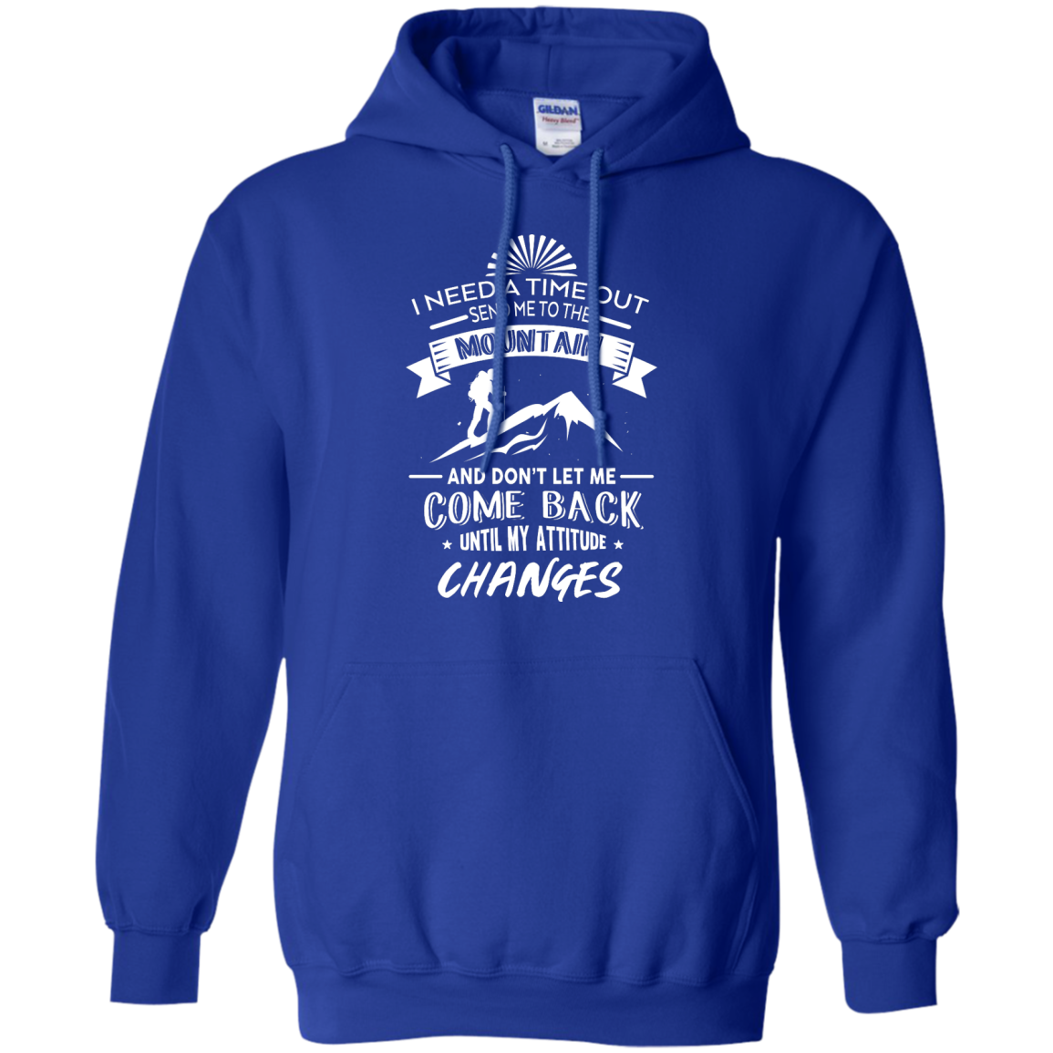 image 216px Hiking t shirt: I need a time out send me to the mountain