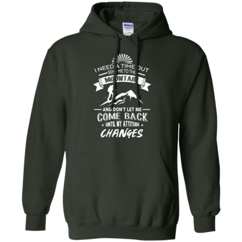 image 217 490x490px Hiking t shirt: I need a time out send me to the mountain