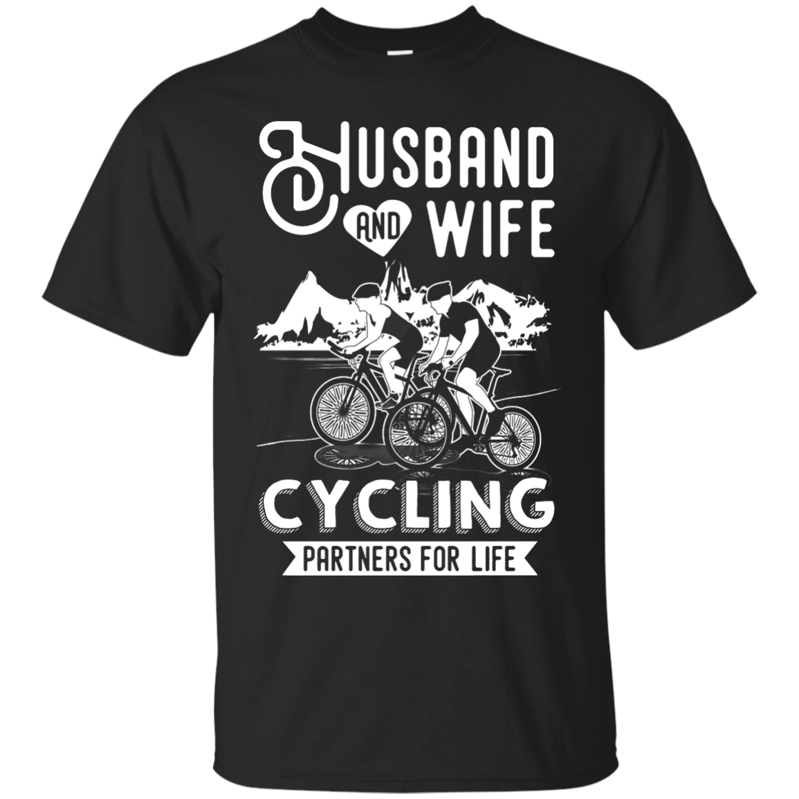 image 221px Husband and Wife Cycling Partners For Life T Shirt