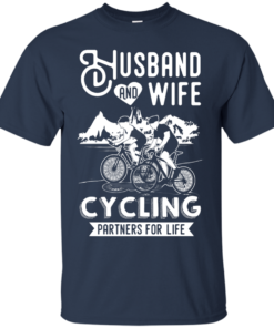 image 222 247x296px Husband and Wife Cycling Partners For Life T Shirt